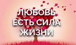 Любовь - есть сила жизни